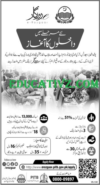 e-Rozgaar Training Program Punjab October 2019 November