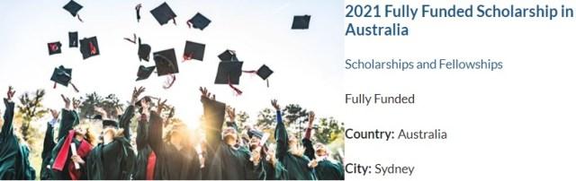 Fully Funded University of South Wales Scholarships 2021 Australia