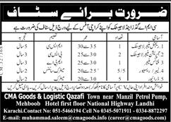 Karachi Company Jobs 2021-CMA Goods & Logistic Qazafi Latest