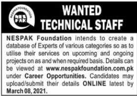 NESPAK Foundation Jobs 2021 Latest Adertisment