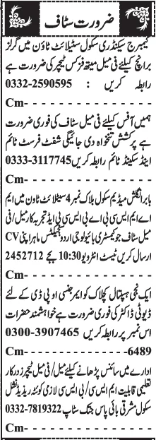 CSS Rwp Jobs 2021 April Advrts