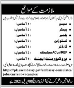 Private Jobs in Karachi for Male and Female - US Mission pk.usembassy.gov