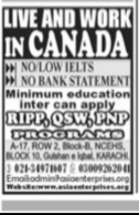 Canada Jobs 2021 Latest Jang Newspaper Advertisement