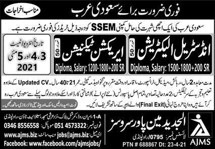 Industrial & Erection Technician Jobs 2021 May In Saudi Arab Latest