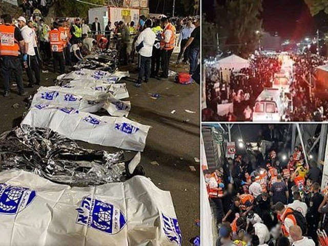 A stampede at a Jewish religious service in Israel has killed at least 44 people