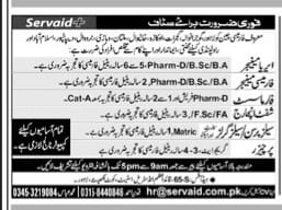 Pharmacy Jobs 2021 for Manager, Pharmacist, Shift-Incharge & Purchaser Latest