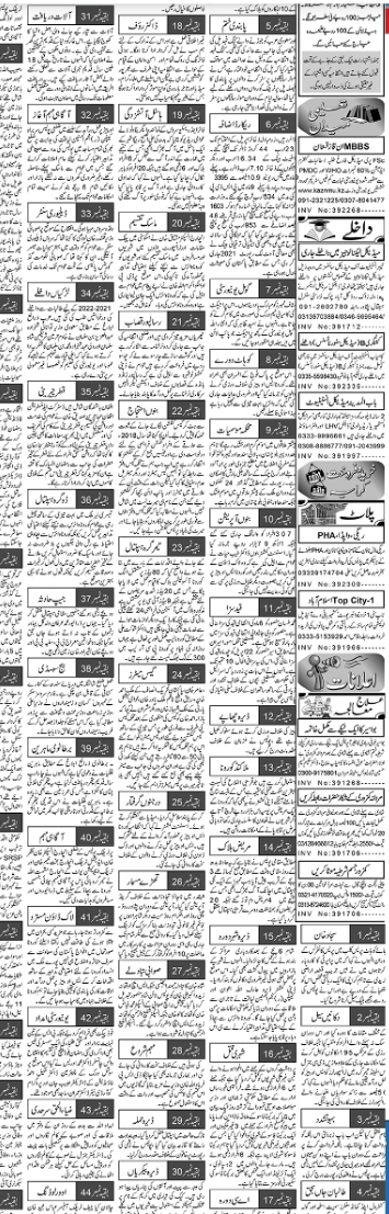 Aaj Classifieds Admissions 2021