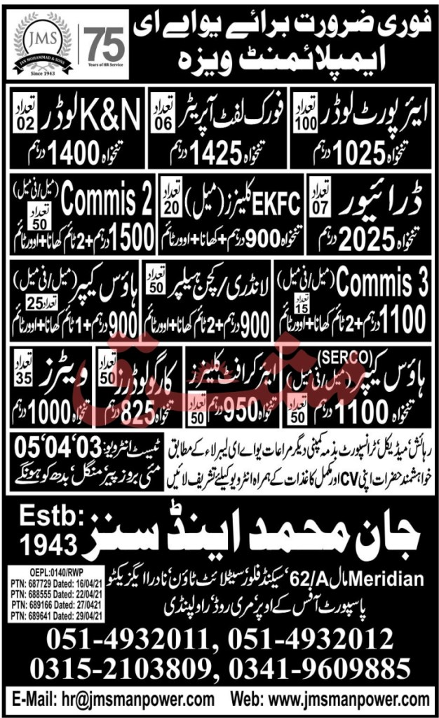 UAE Jobs 2021 May Driver, Cleaner, House Keeper & Other Latest