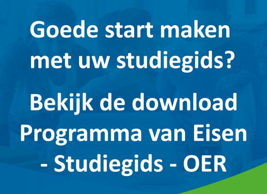 Download: Studiegids ontwikkelen? Begin met een Programma van Eisen