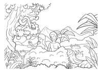 Dibujo De Adn Y Eva Para Pintar Con Nios Catequesis