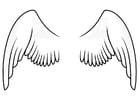 Dibujo para colorear alas - Dibujos Para Imprimir Gratis