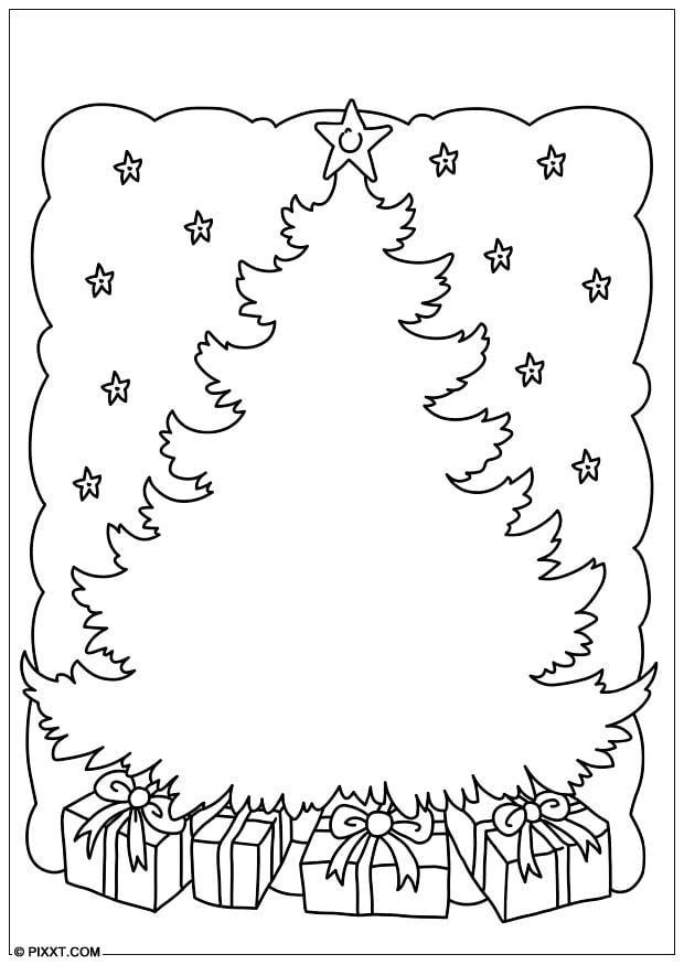 Dibujo para colorear rbol de Navidad  Img 28179 Images