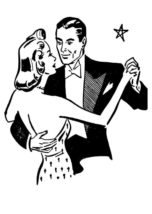 Dibujo para colorear bailar  Img 28069