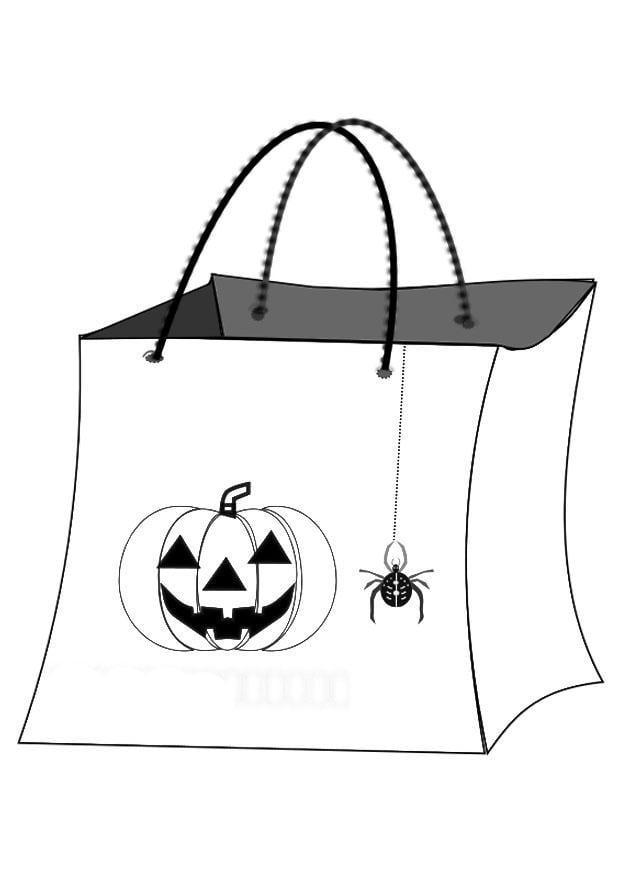 Dibujo para colorear bolsa de halloween
