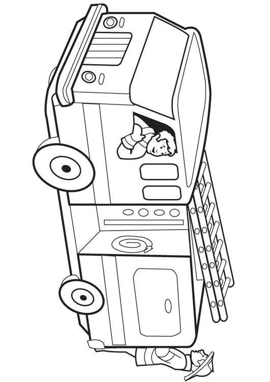Dibujo Para Colorear Camin De Bomberos Img 8174