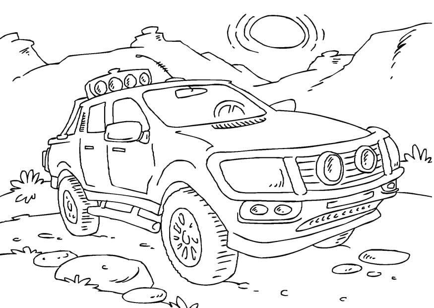 Dibujo Para Colorear Camioneta Pick Up Img 27166