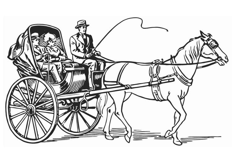 Dibujo Para Colorear Carruaje Img 12928
