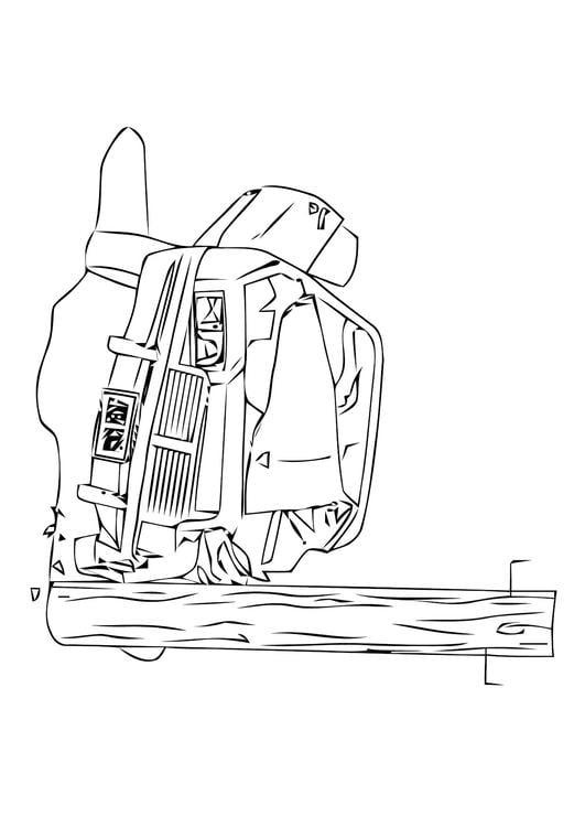 Dibujo Para Colorear Choque Accidente