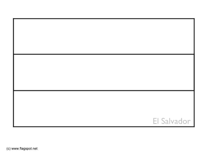 Dibujo para colorear El Salvador