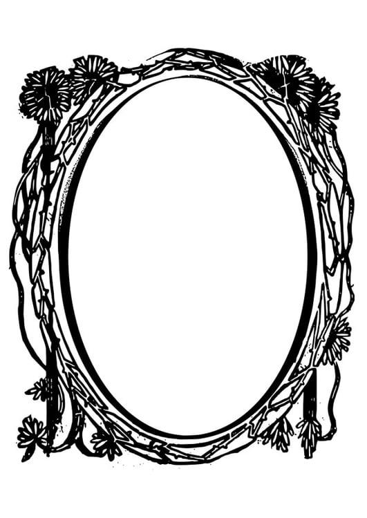 Dibujo para colorear espejo - Img 28075