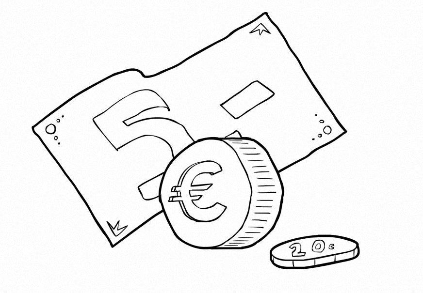 Dinero Dibujos Para Colorear