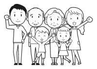 Dibujo para colorear familia - Img 30253