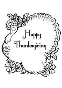 V Thanksgiving Day Para Colorear Páginas Para Imprimir Y