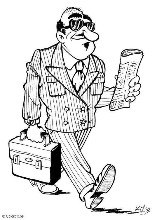 Dibujo Para Colorear Hombre De Negocios