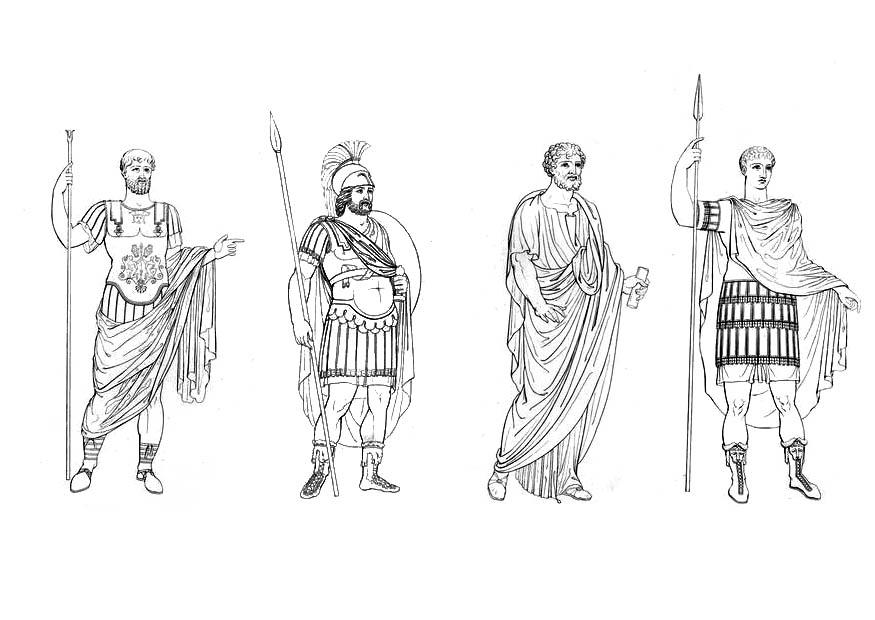 Roman Gladiator Coloring Pages