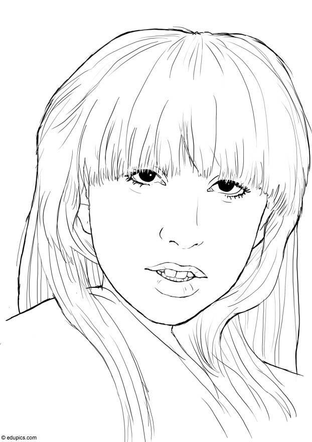 Dibujo Para Colorear Lady Gaga Img 15395