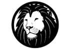Dibujo para colorear cabeza de león - Img 17901