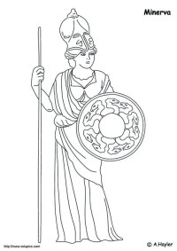 Dibujo para colorear Minerva - Img 4183
