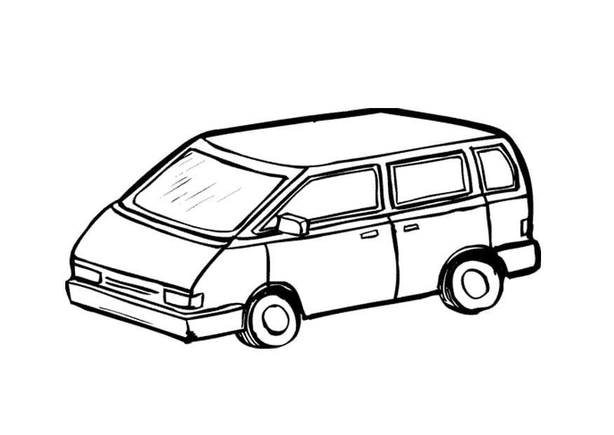 Dodge Caravan Coloring Page Coloring Pages