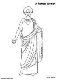 Dibujo para colorear Mujer romana - Img 4187