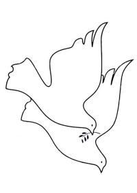 Dibujo para colorear palomas de la paz - Img 19467