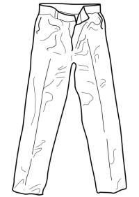 Dibujo para colorear pantaln - Img 18961