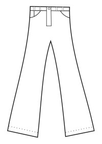 Dibujo para colorear pantalones - Img 19152