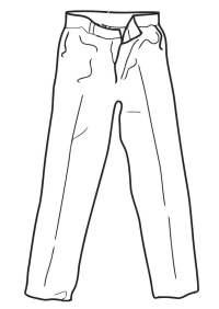 Dibujo para colorear pantalones - Img 19332