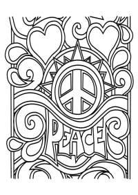 Dibujo para colorear paz - Img 29162