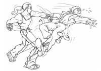 Dibujo para colorear Pelea - lucha - Img 8835