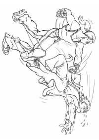 Dibujo para colorear Pelea - lucha - Img 8831