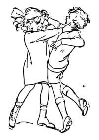Dibujo para colorear pelearse - Img 29799