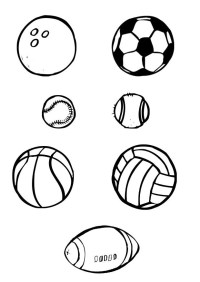 Dibujo para colorear Pelotas - deporte - Img 10386