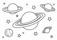 Dibujo para colorear planetas - Img 26798