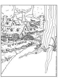 Dibujo para colorear Pueblo de gnomos - Img 9257