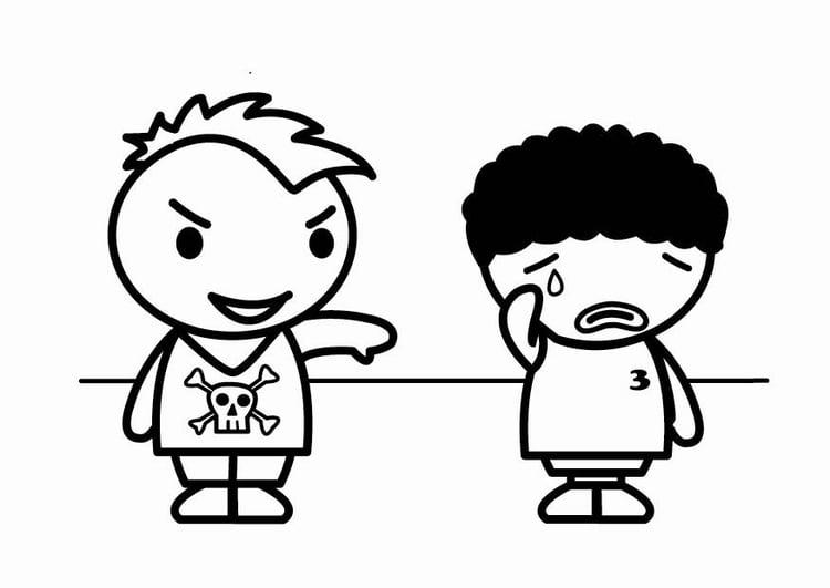 Dibujos Para Colorear Bullying Escolar