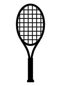 Dibujo para colorear raqueta de tenis - Img 17413