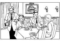 Dibujo para colorear Restaurante - Img 7534