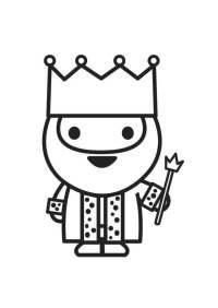 Dibujo para colorear rey - Img 27235