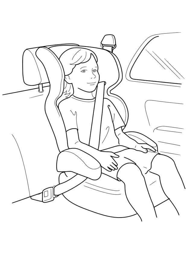 Dibujo para colorear silla de coche  Img 18955